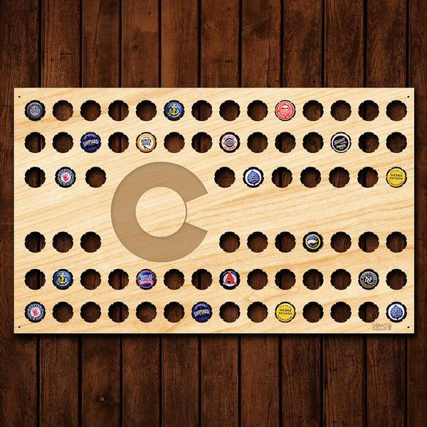 Colorado Flag Beer Cap Sign - Premier Home & Gifts