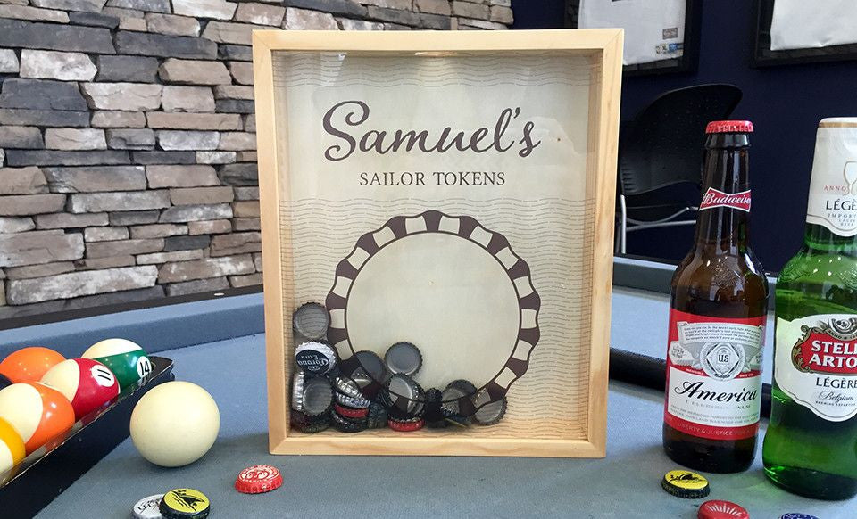 Bottle Cap Shadow Box - Personalized | Premier Home & Gifts