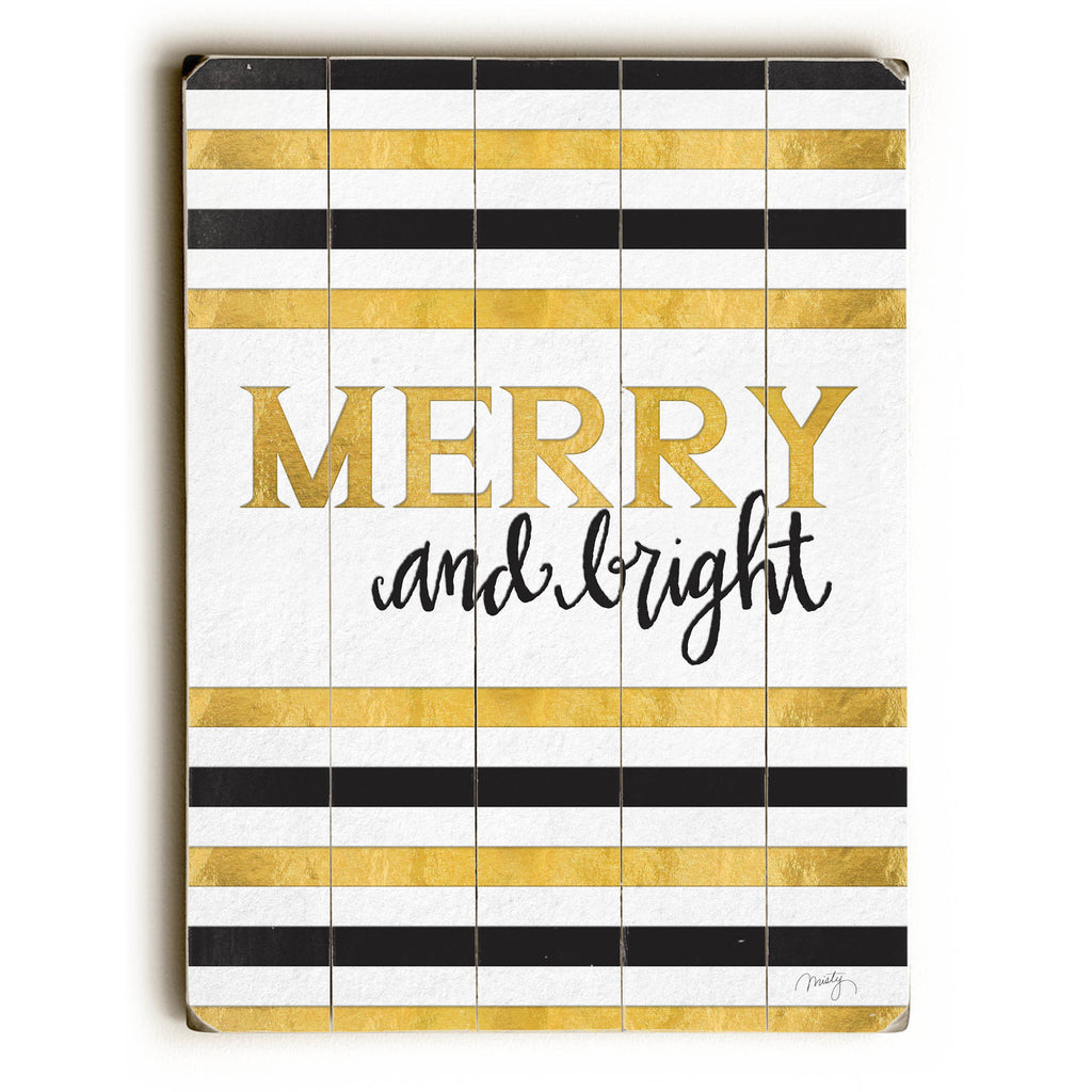 Merry and Bright II Wood Sign