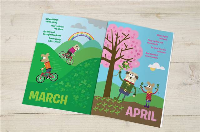Months of the Year Children's Book - Personalized