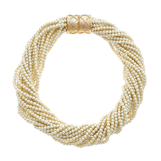 Jackie Pearl Twist Necklace - Premier Home & Gifts