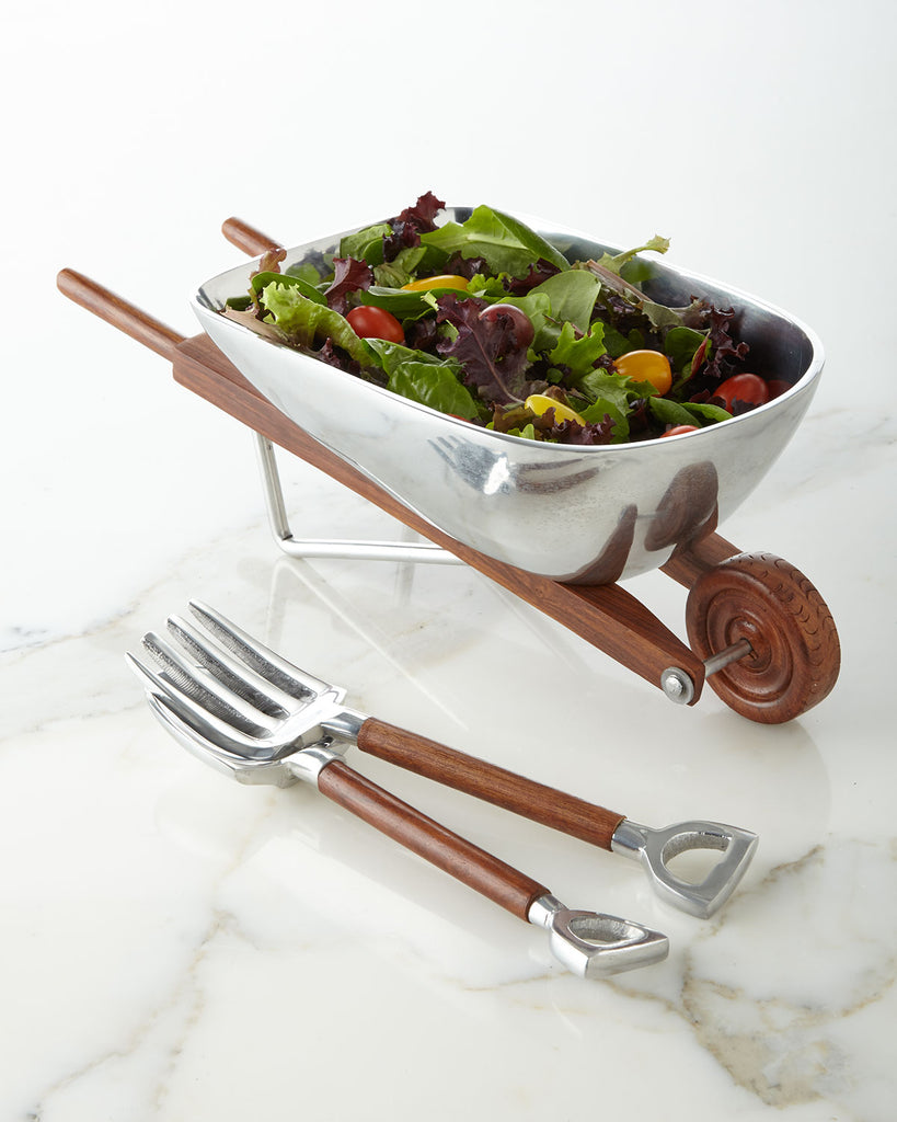 Garden Wheelbarrow Salad Set - Entertaining Gifts - Premier Home & Gifts