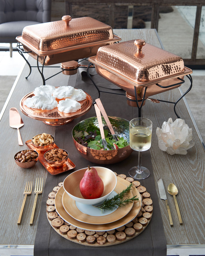 C'est Copper Bowls and Tray Set - Entertaining Gifts - Premier Home & Gifts
