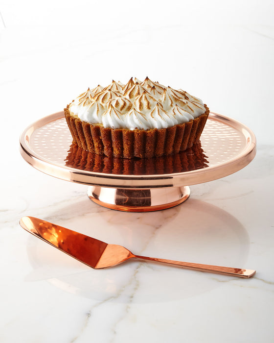 C'est Copper Cake Plate and Server - Dessert Stand - Premier Home & Gifts