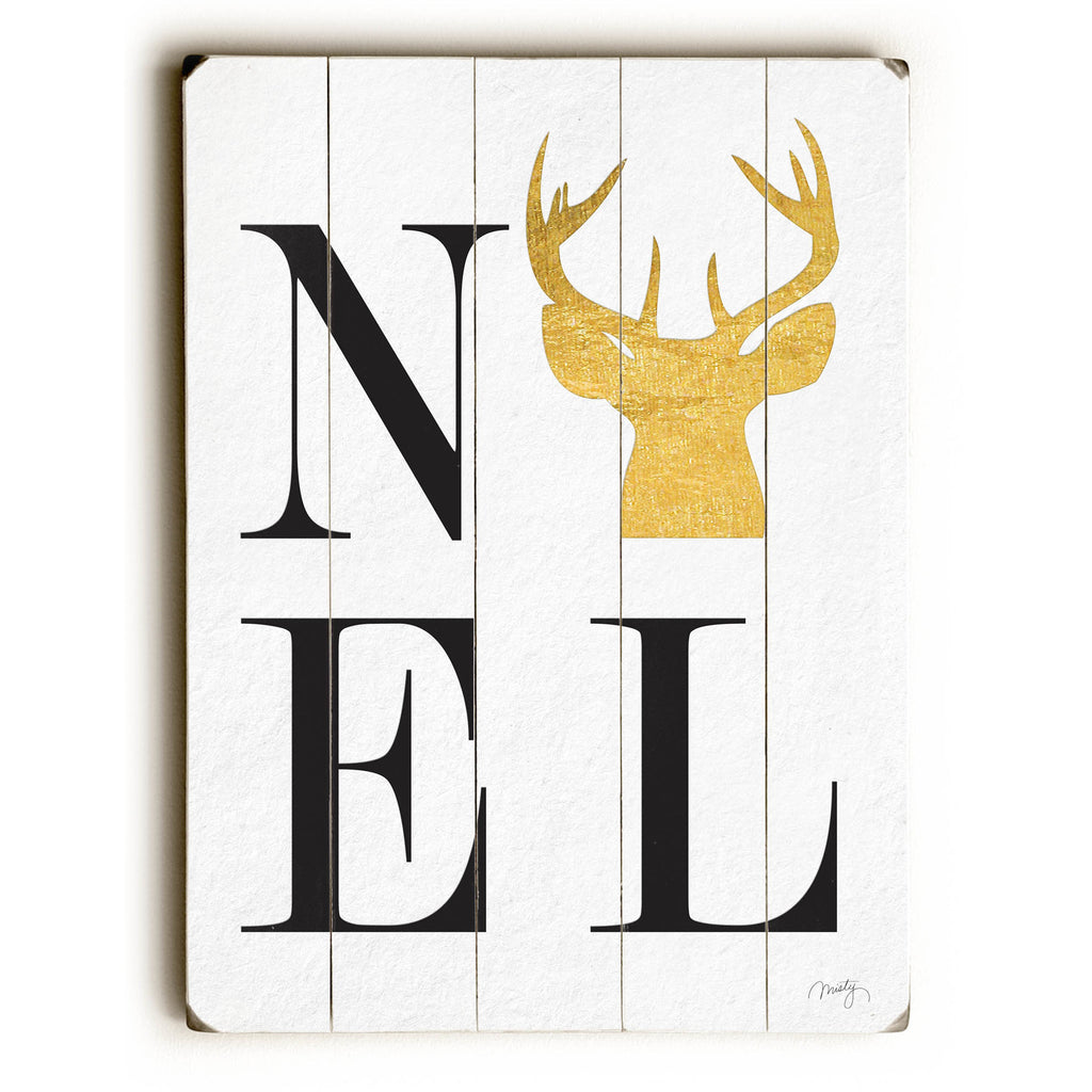 Noel Deer Wood Sign