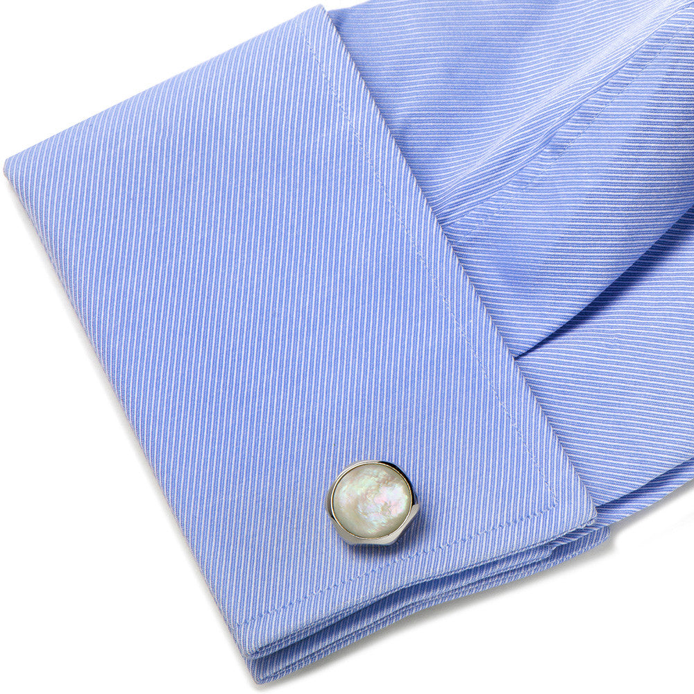 Mother of Pearl Magnetic Bloom Cufflinks