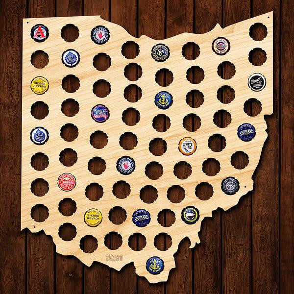 Ohio Beer Cap Sign - Premier Home & Gifts