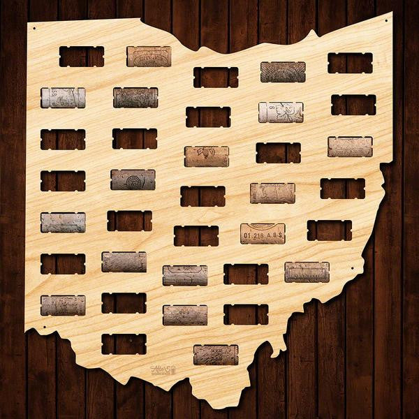 Ohio Wine Cork Sign - Premier Home & Gifts