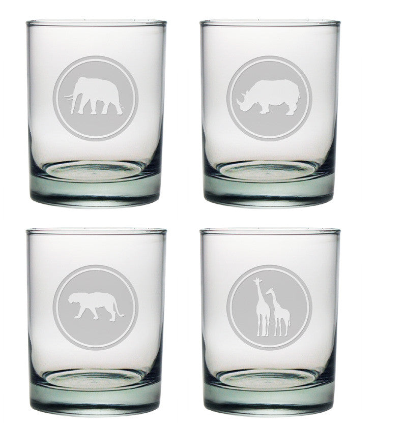 Out of Africa Double Old Fashioned Glasses