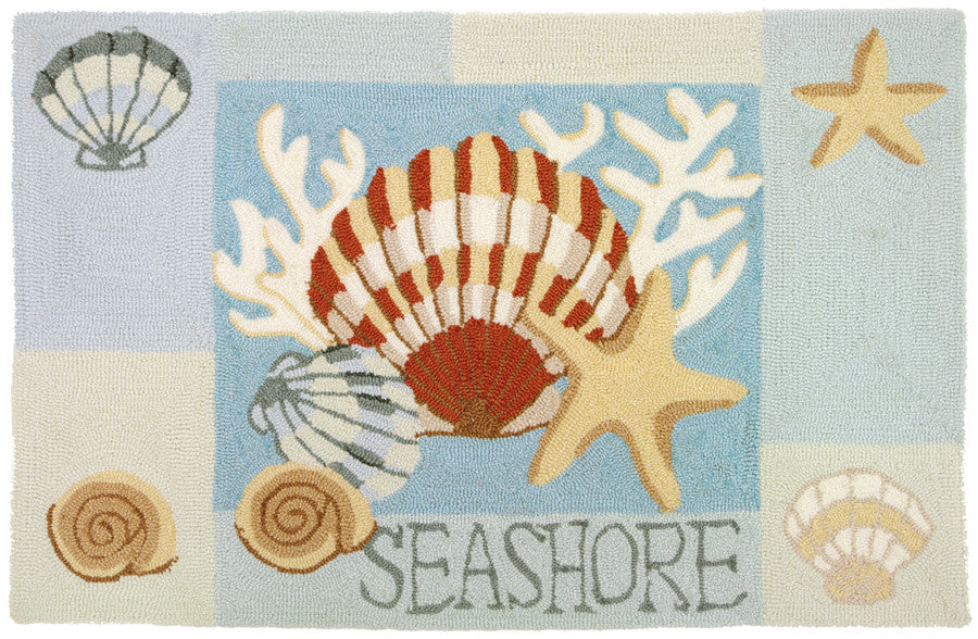 Key West Clam Shell Accent Rug