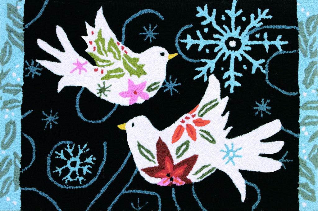 Winter Doves Accent Rug by Jennifer Brinley