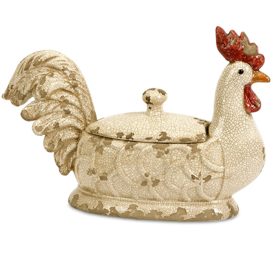 Lidded Rooster