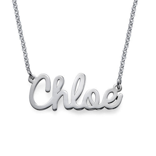 Cursive Name Sterling Silver Necklace