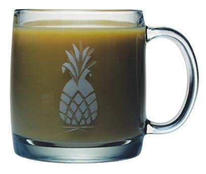 Pineapple Coffee Mugs ~ Set of 4