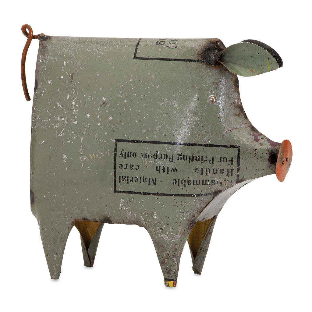 Penelope the Pig Metal Decor
