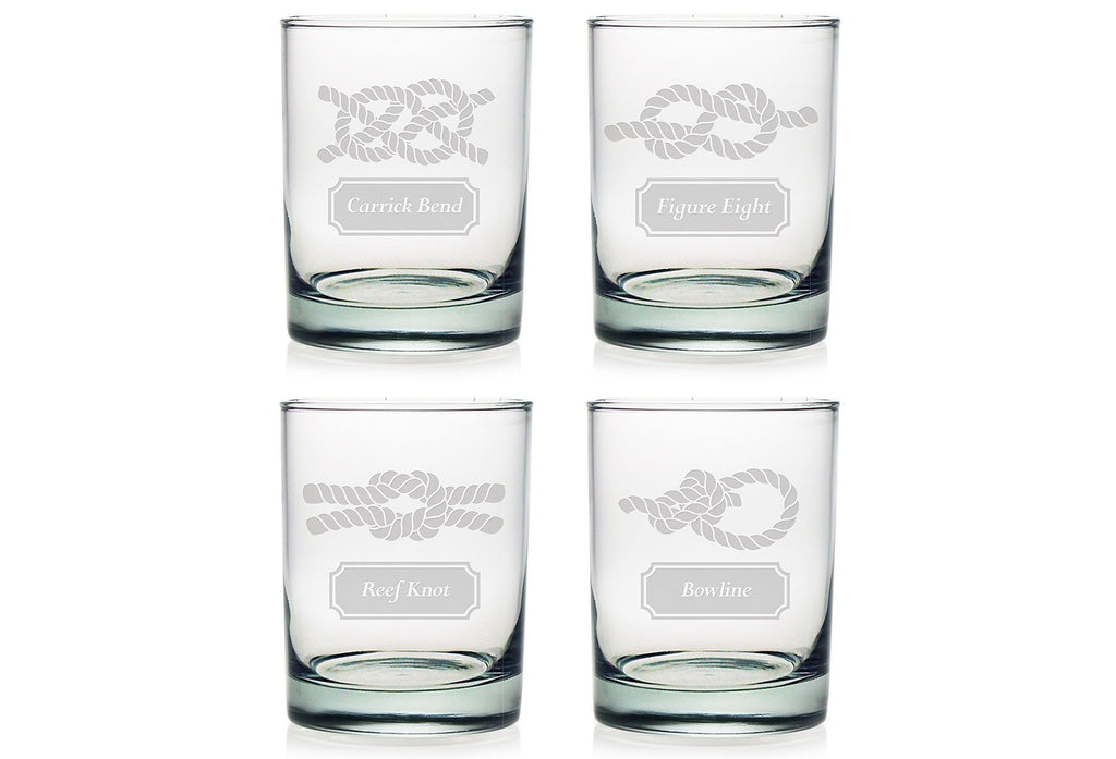 Nautical Knots Double Old Fashioned Glasses - Set of 4