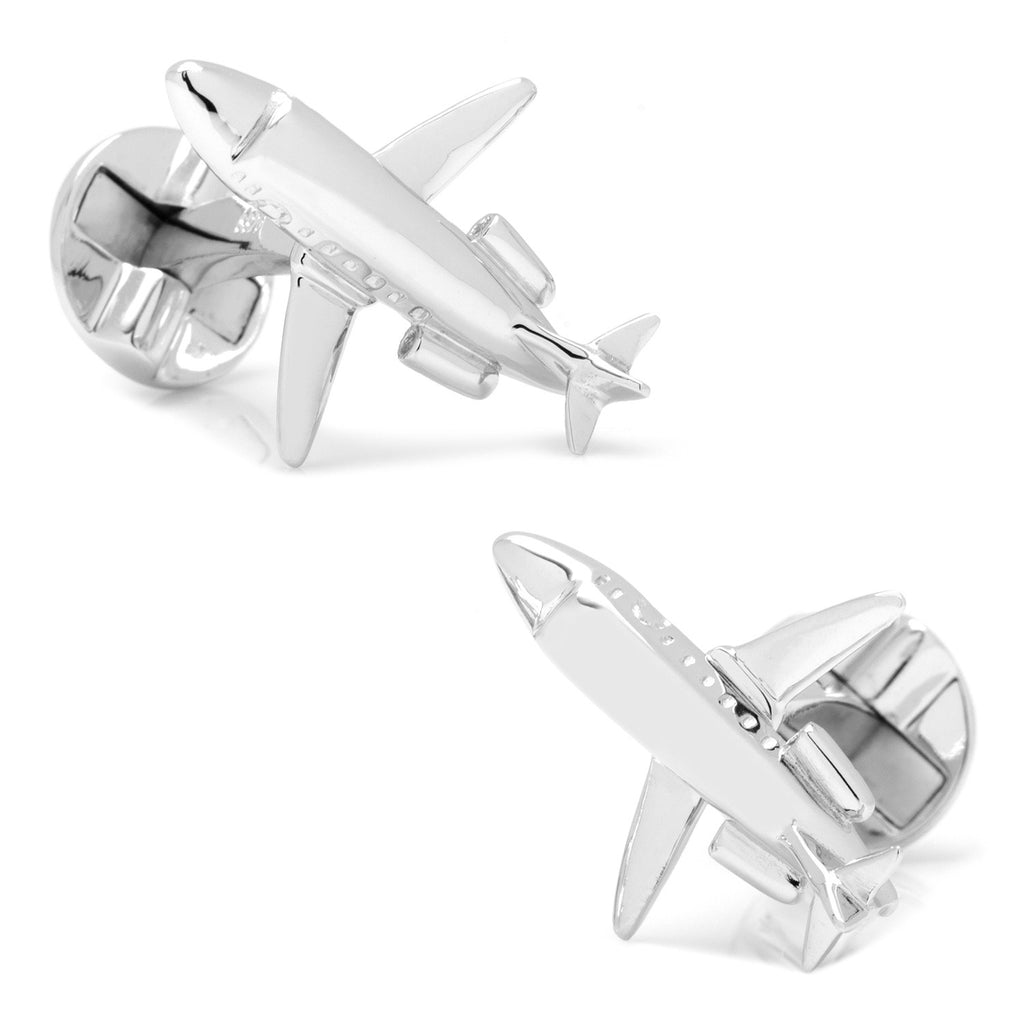 Private Jet Sterling Silver Cufflinks