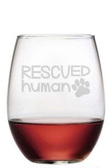 Rescued Human Stemless Wine Glasses