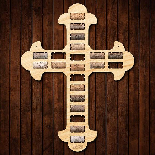Cross Wine Cork Sign - Wine Gifts - Gifts for Wine Lovers