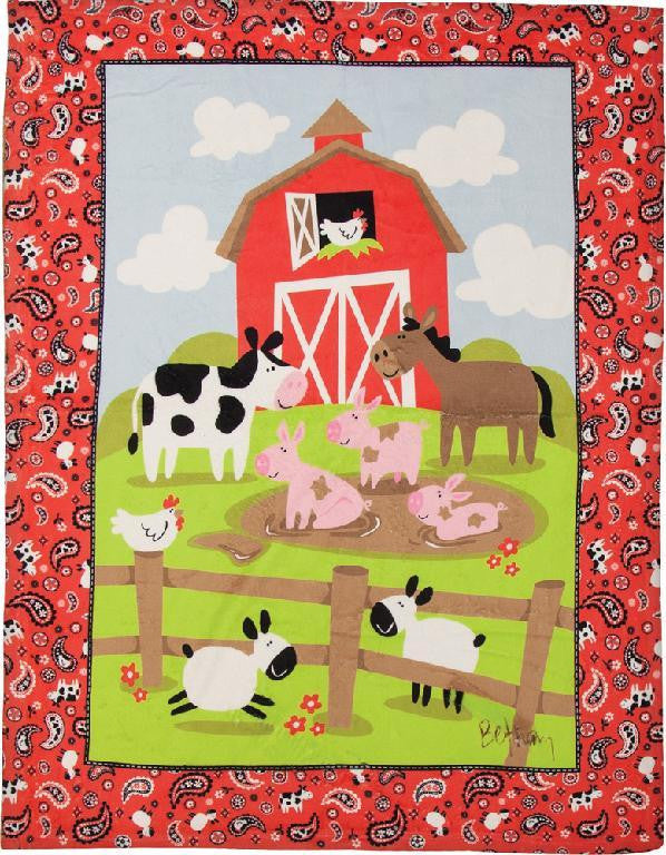 Down on the Farm Fleece Blanket