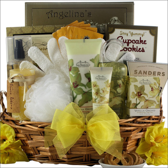 Vanilla Orchid Spa Luxuries Gift Basket - Premier Home & Gifts