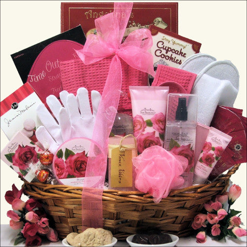Rose Spa Haven Gift Basket - Premier Home & Gifts