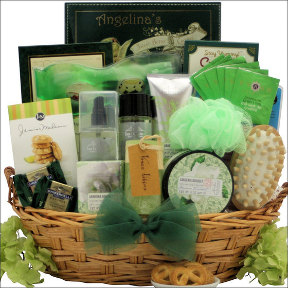Gardenia Bouquet Luxury Spa Gift Basket - Premier Home & Gifts