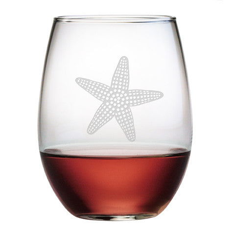 Starfish Stemless Wine Glasses