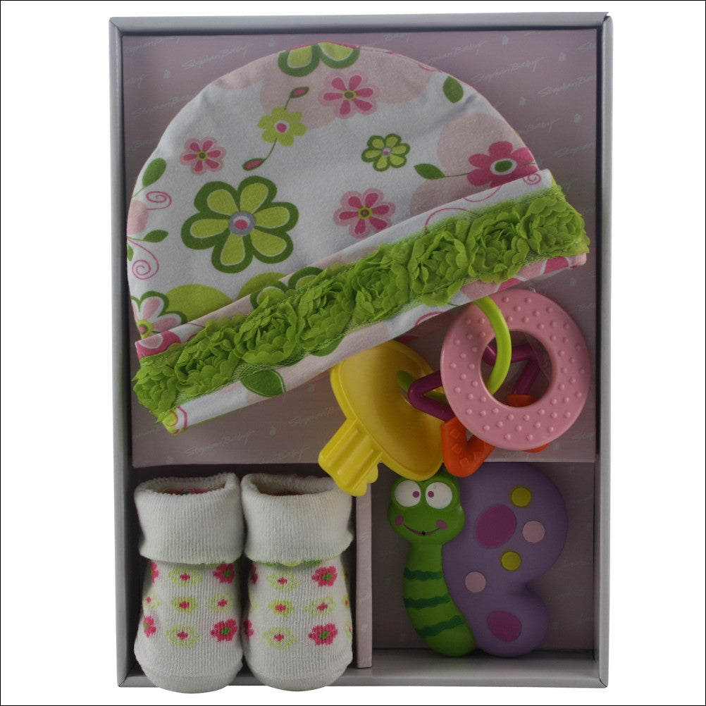 Best Wishes Baby Girl Lux Baby Gift Basket - Premier Home & Gifts