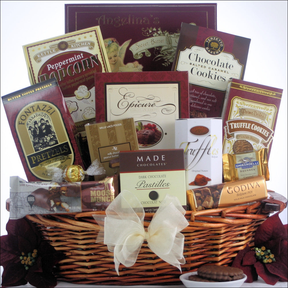 Peace & Prosperity Chocolate Holiday Gift Basket - Medium | Premier Home & Gifts