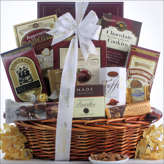 Chocolate Cravings Thank You Gift Basket