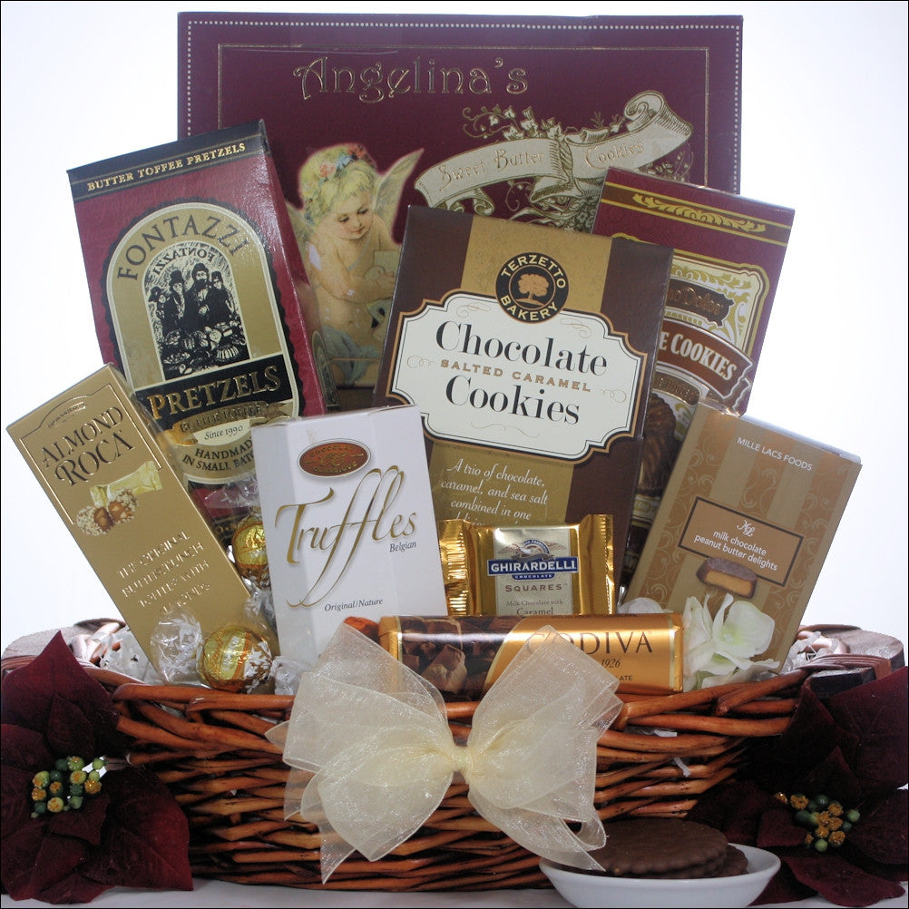 Peace & Prosperity Chocolate Holiday Gift Basket - Small | Premier Home & Gifts