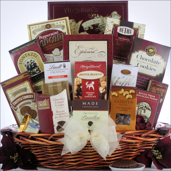 Peace & Prosperity Chocolate Holiday Gift Basket - Large | Premier Home & Gifts