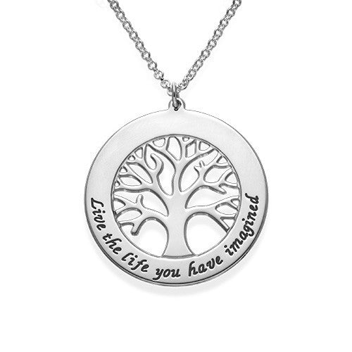 Tree of Life Personalized Necklace - Sterling Silver