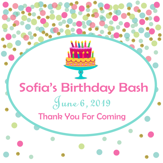 Candy Confetti Birthday Bash Personalized Candle