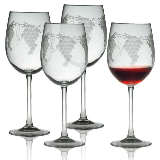 Sonoma Grape Wine Glasses ~ Set of 4