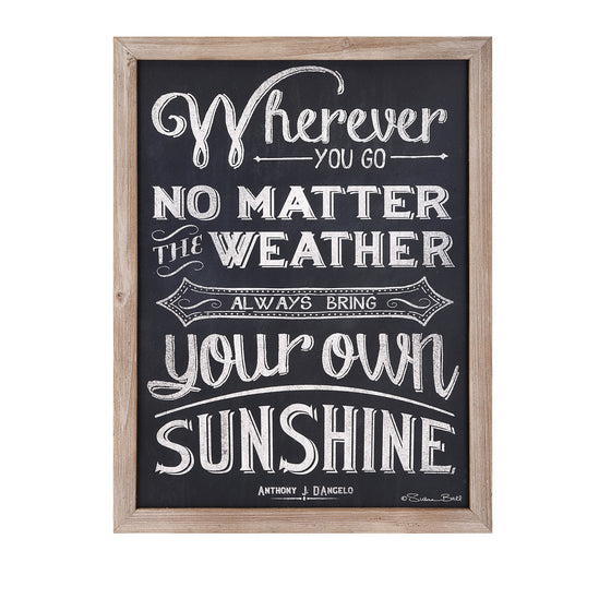 Bring Your Sunshine Wall Art - Premier Home & Gifts