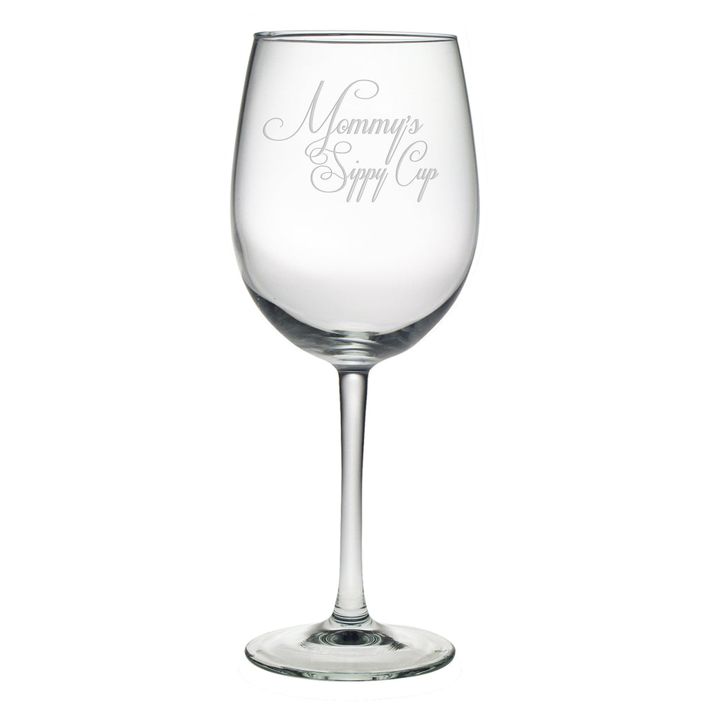 Mommy's Sippy Cup Wine Glasses - Set of 4 - Premier Home & Gifts