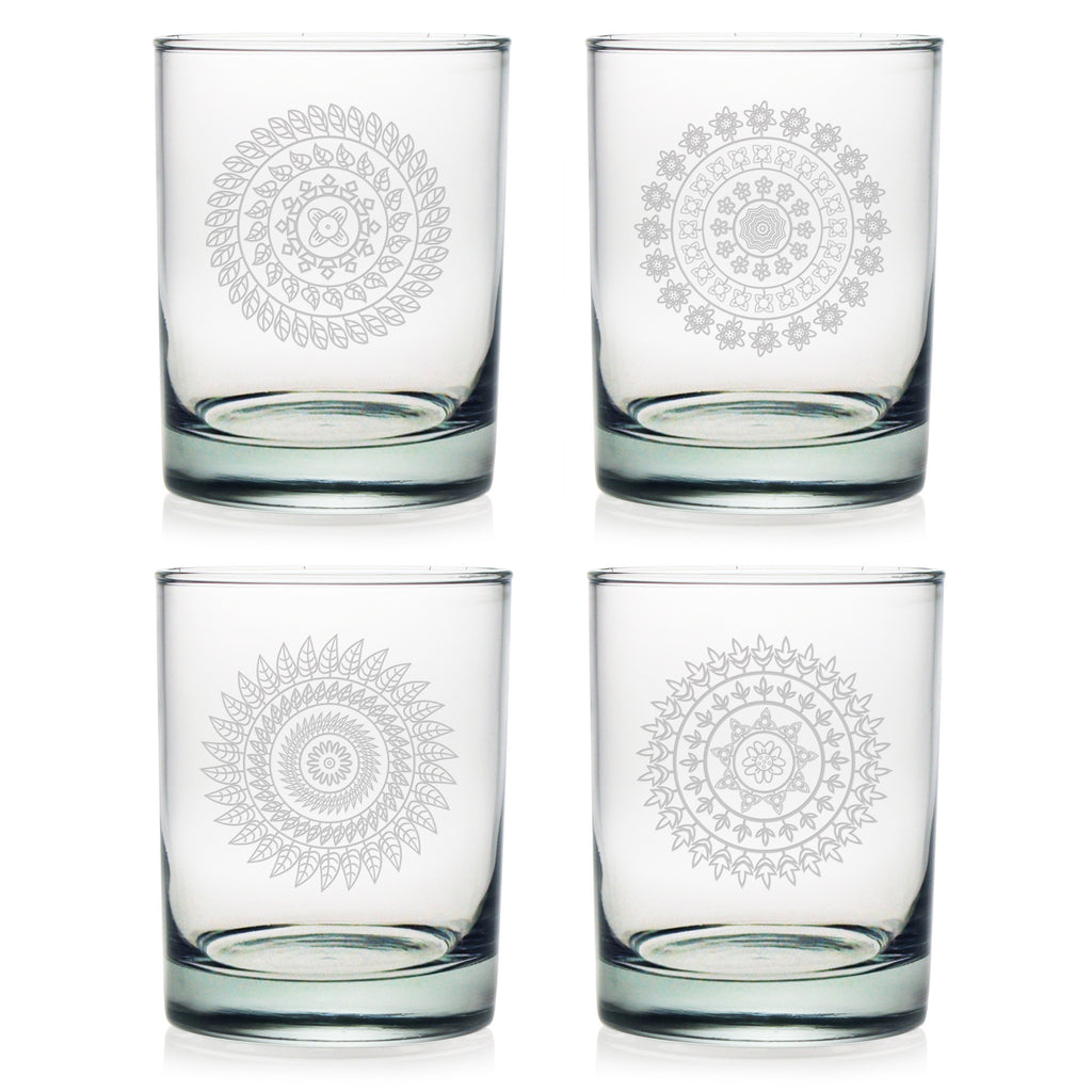 Morocco Double Old Fashioned Glasses ~ Set of 4