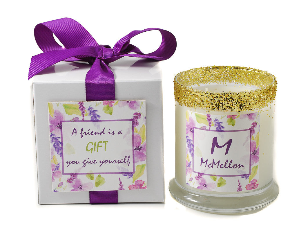 Sweet Violet Mother\'s Day Personalized Candle