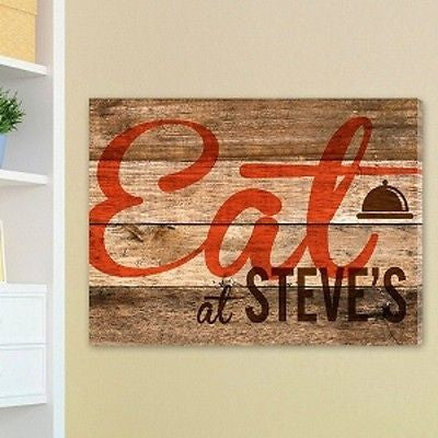 Dinner Bell Personalized Kitchen Canvas Print
