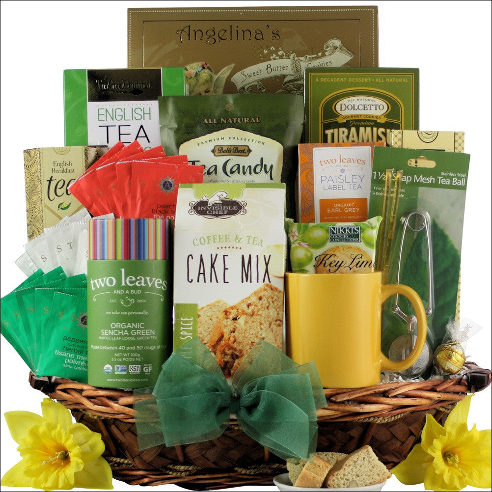 Tea Treasures Gourmet Tea Gift Basket - Premier Home & Gifts