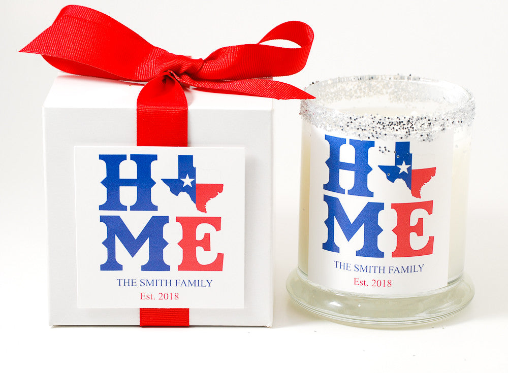 Texas State Personalized Candle