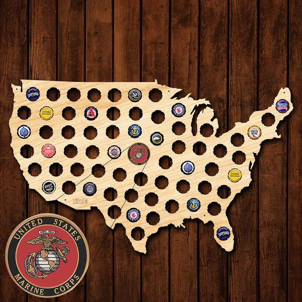 Marine Corps Beer Cap Sign - Premier Home & Gifts
