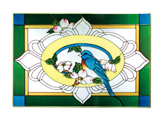 Bluebird Hand Painted Stained Glass Art - Premier Home & Gifts