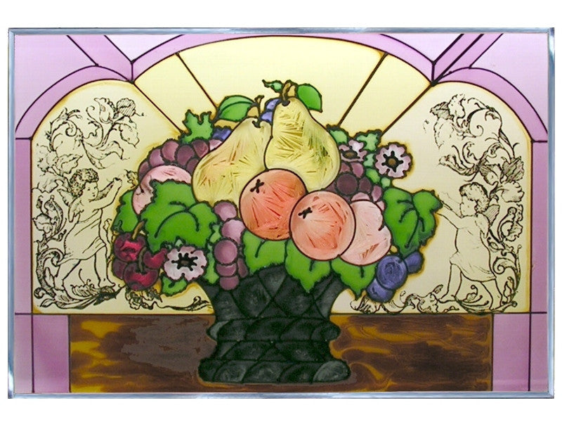 Fruit Basket Stained Glass Art