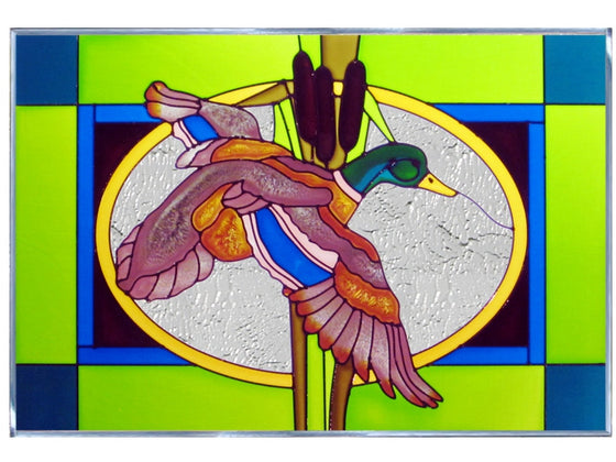 Mallard Duck Stained Glass Art