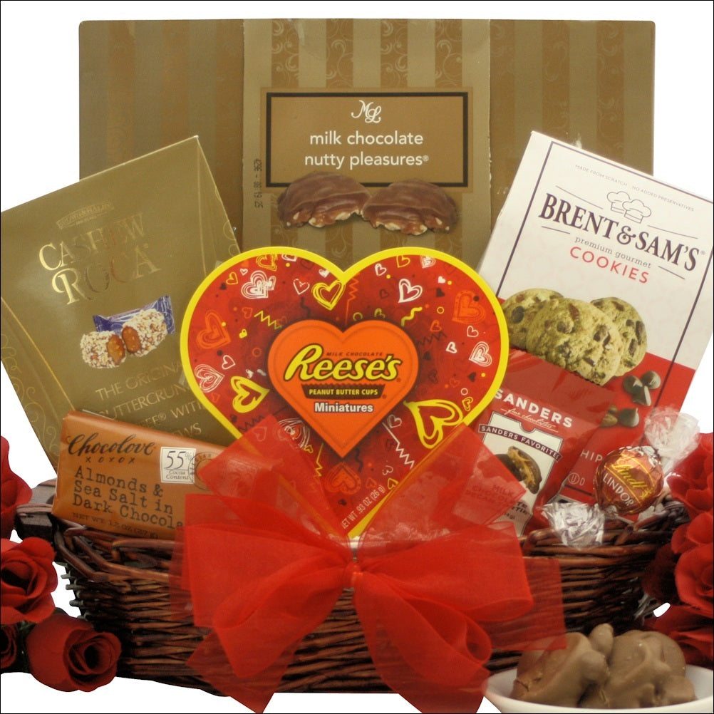 Nuts about you valentine gift basket nuts about you valentine gift basket valentines day gift baskets negle Image collections