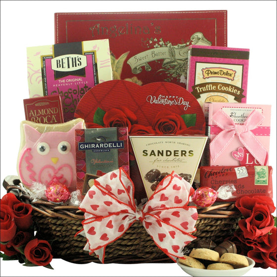 Valentine's Day Chocolate & Sweets Gift Basket