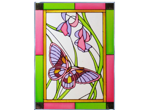 Butterfly Hand Painted Stained Glass Art - Premier Home & Gifts